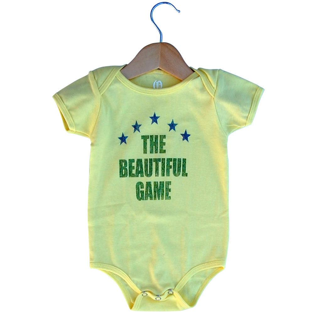 Infant Brazil The Beautiful Game Soccer Onesie in Lemon by Neutral FC