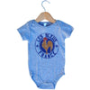 Infant France Les Bleus Soccer Onesie in Grey Heather by Neutral FC