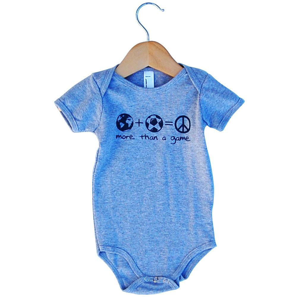 Infant More Then A Game Soccer Onesie in Grey Heather by Neutral FC
