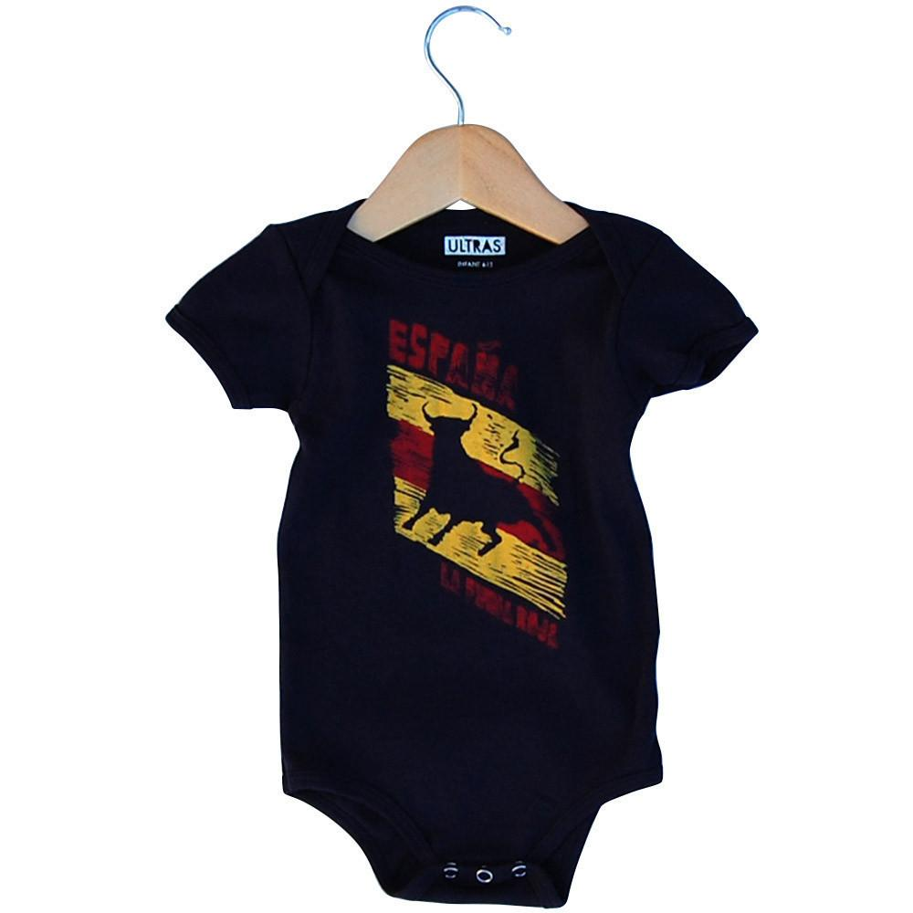 Infant Spain La Furia Roja Soccer Onesie in Navy by Neutral FC