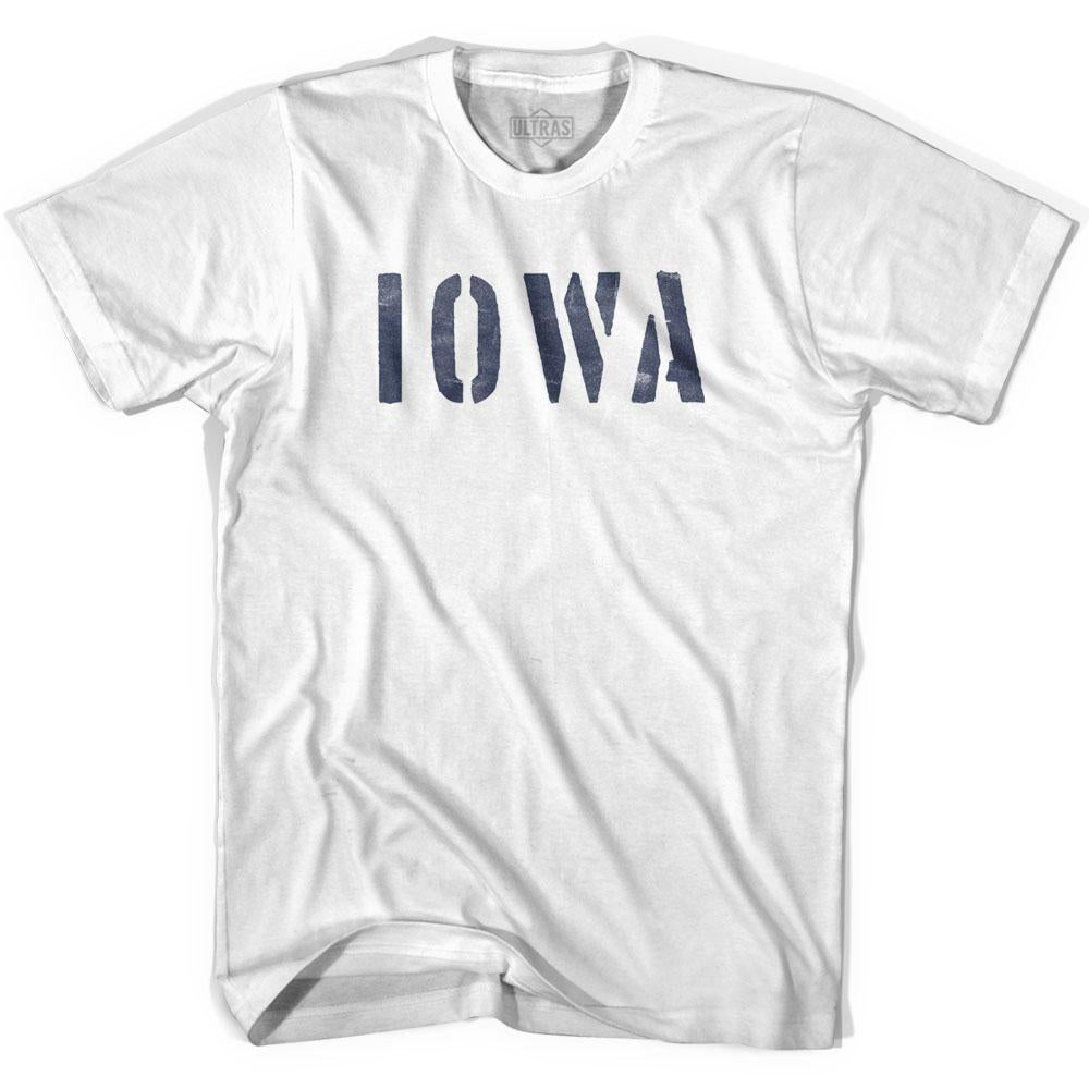 Iowa State Stencil Womens Cotton T-shirt by Ultras