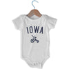 Iowa City Tricycle Infant Onesie in White by Mile End Sportswear