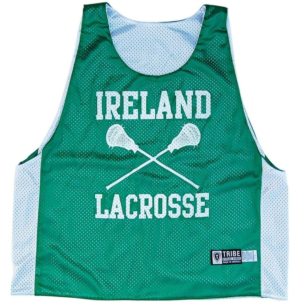 Ireland Nations Lacrosse Pinnie - Green / Youth X-Large - Graphic Lacrosse Pinnies