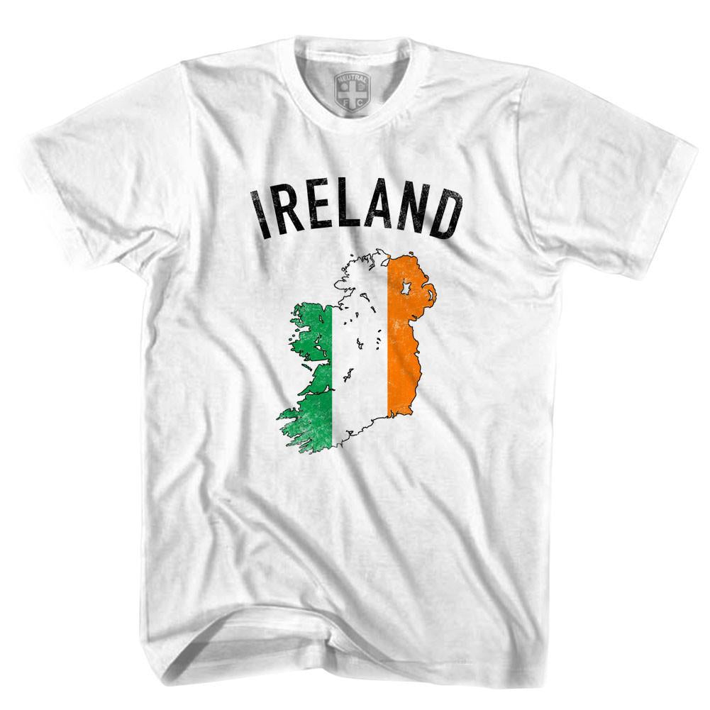 Ireland Flag & Country T-shirt in White by Neutral FC