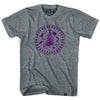 Iroquios Passport T-shirt in Athletic Grey by Tribe Lacrosse