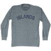 Islands City Vintage Long Sleeve T-shirt in Athletic Grey by Mile End Sportswear