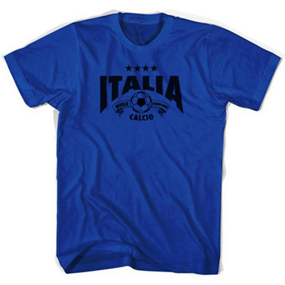 Italy World Champions T-shirt in Royal by Neutral FC