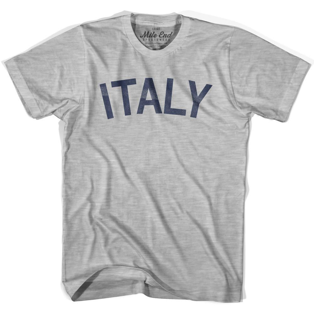 Italy City Vintage T-shirt in Grey Heather by Mile End Sportswear