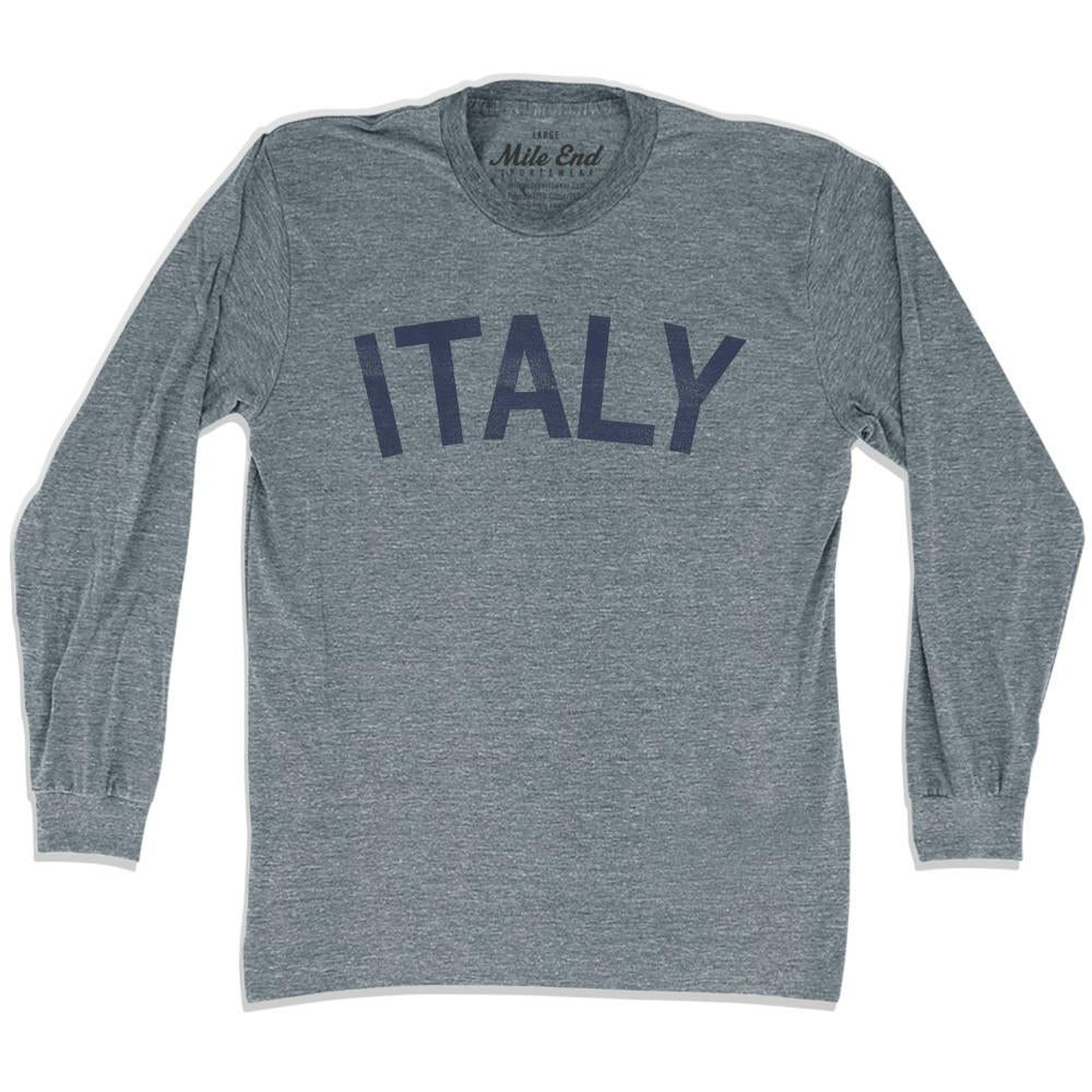 Italy City Vintage Long Sleeve T-shirt in Athletic Grey by Mile End Sportswear