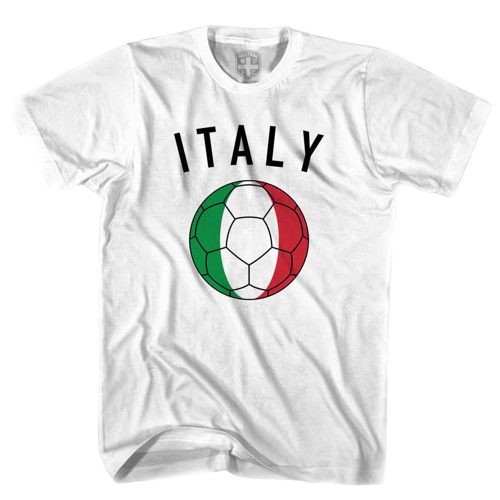 Italy Soccer Ball T-shirt in White by Neutral FC