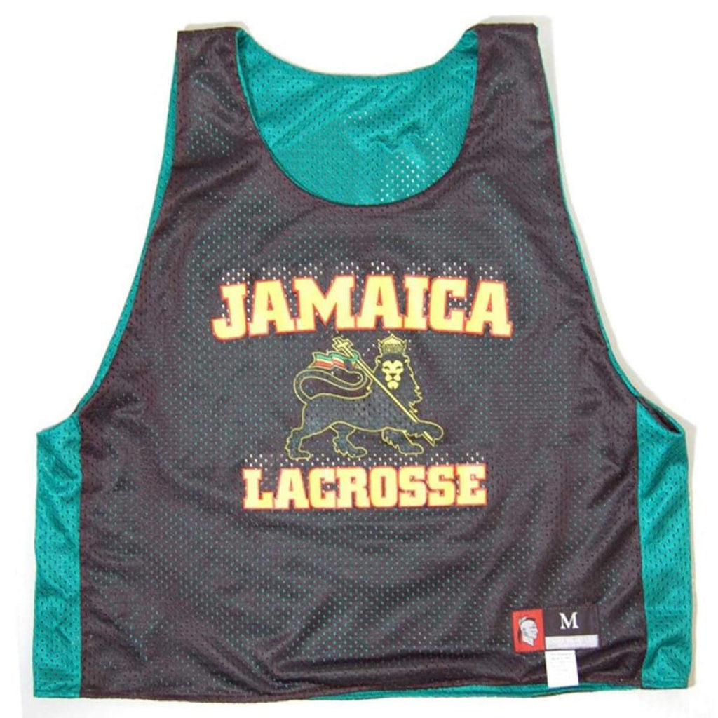 Jamaica Lion Lacrosse Pinnie - Kelly / Youth Large - Graphic Mesh Lacrosse Pinnies