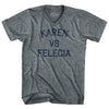Karen Vs Felicia Adult Tri-Blend V-Neck T-Shirt