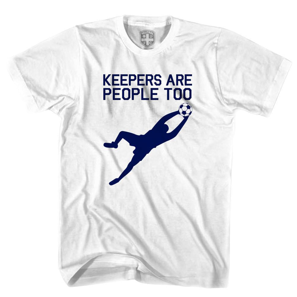 Keepers Are People Too T-shirt in White by Neutral FC