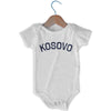 Kosovo City Infant Onesie in White by Mile End Sportswear