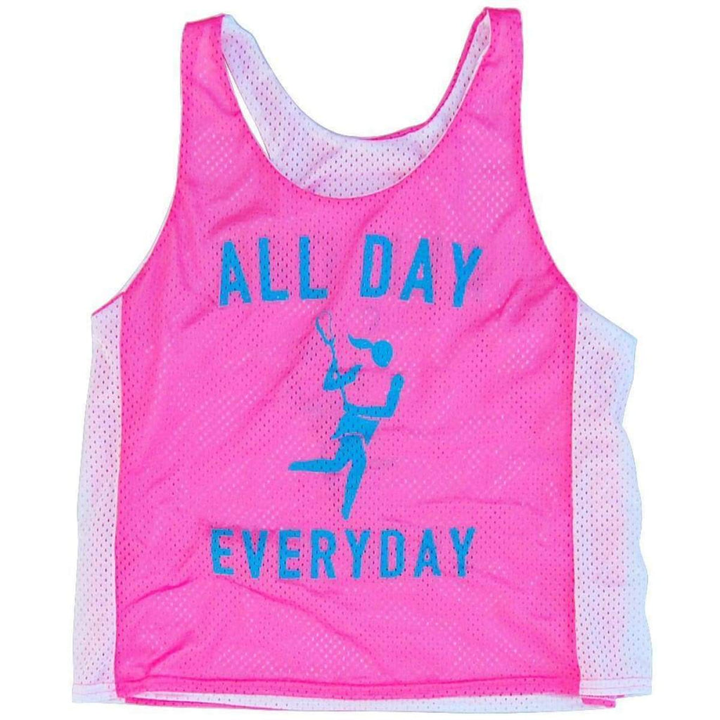 Lacrosse All Day Everyday Racerback Pinnie - Womens Graphic Mesh Racerback Pinnies