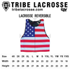 Wyoming Flag and American Flag Lacrosse Pinnie