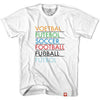Soccer Language T-shirt in White by Neutral FC