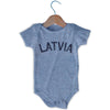 Latvia City Infant Onesie in Grey Heather by Mile End Sportswear