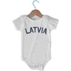 Latvia City Infant Onesie in White by Mile End Sportswear