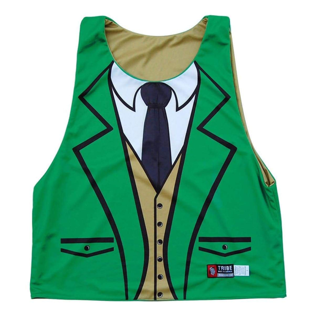 Leprechaun Tuxedo Sublimated Lacrosse Pinnie - Graphic Lacrosse Pinnies