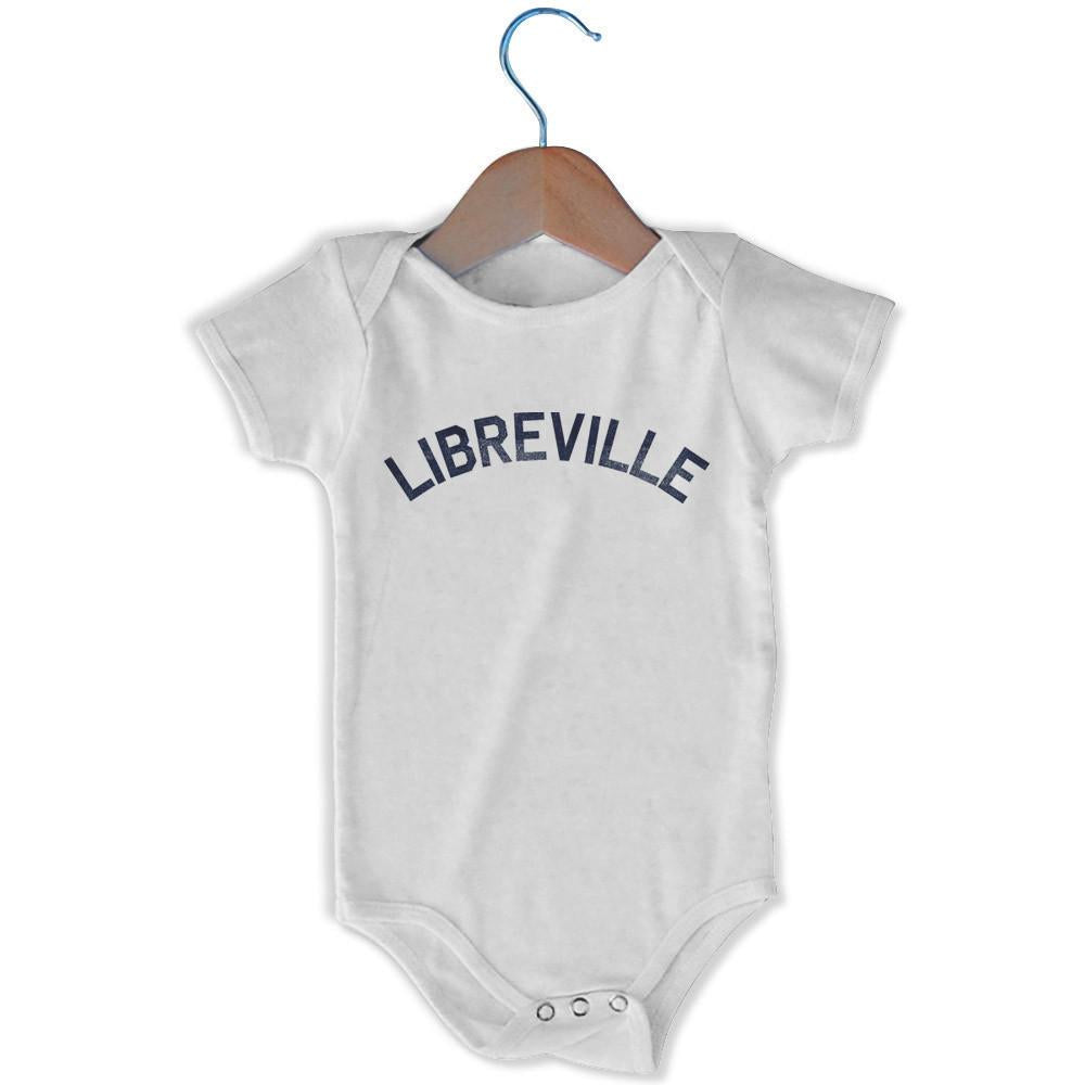 Libreville City Infant Onesie in White by Mile End Sportswear