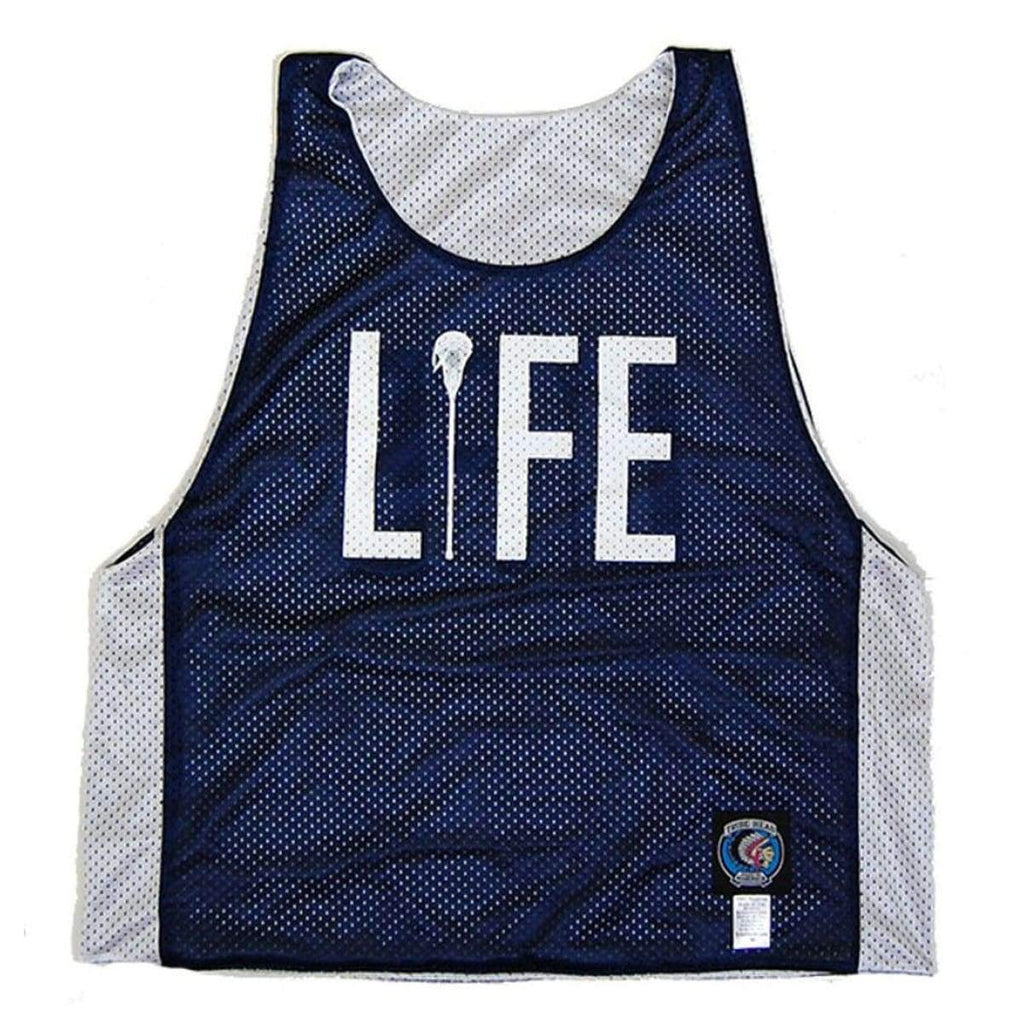 Life Lacrosse Pinnie - Navy / Youth X-Large - Graphic Mesh Lacrosse Pinnies
