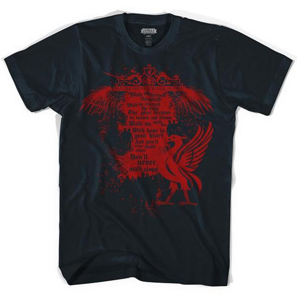 Liverpool Shankley Gates Black T-shirt in Black by Neutral FC