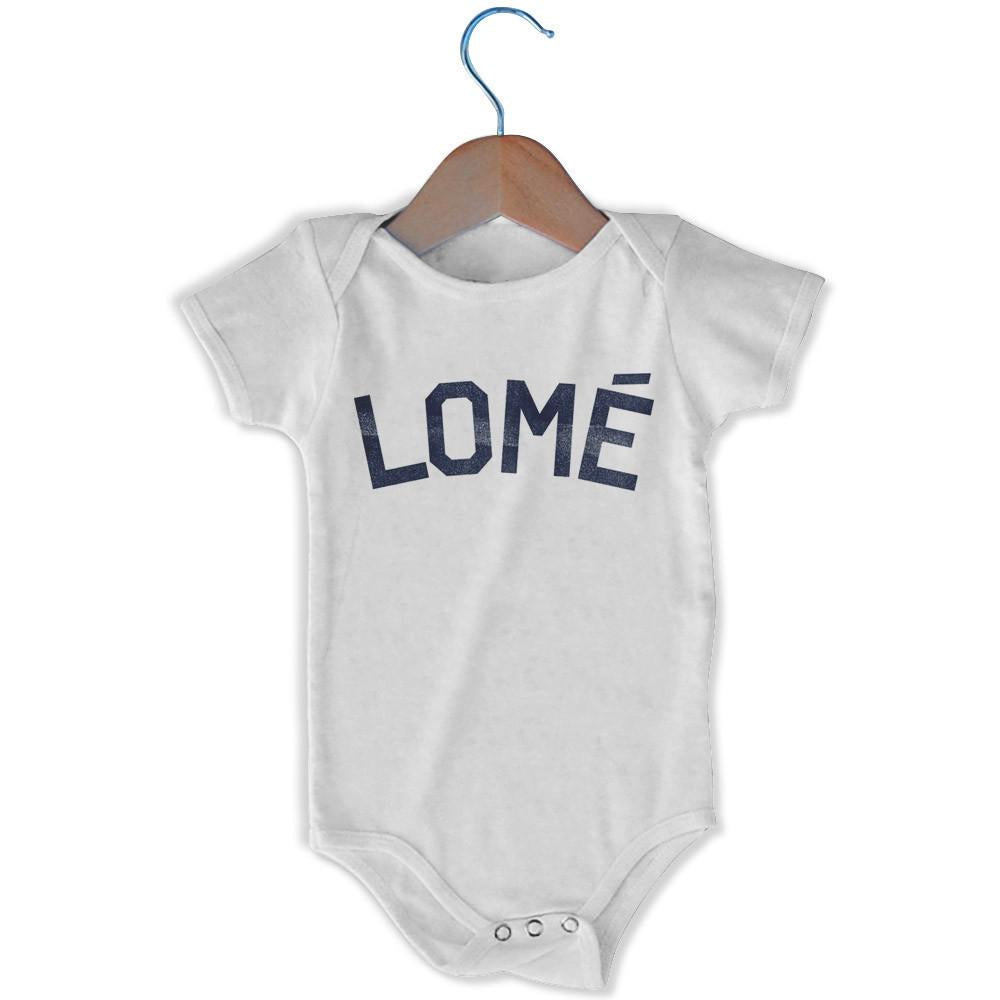 Lomé City Infant Onesie in White by Mile End Sportswear
