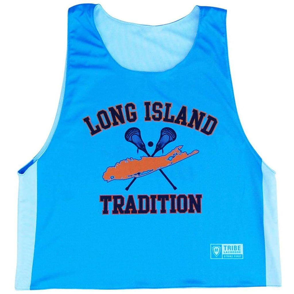 Long Island Lacrosse Reversible Pinnie - Blue / Youth X-Small / No - Graphic Lacrosse Pinnies