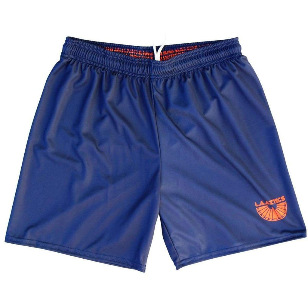 Los Angeles LA Aztecs Phoenix Rising Ultras Soccer Shorts - Navy / Youth X-Small / No - Soccer Shorts