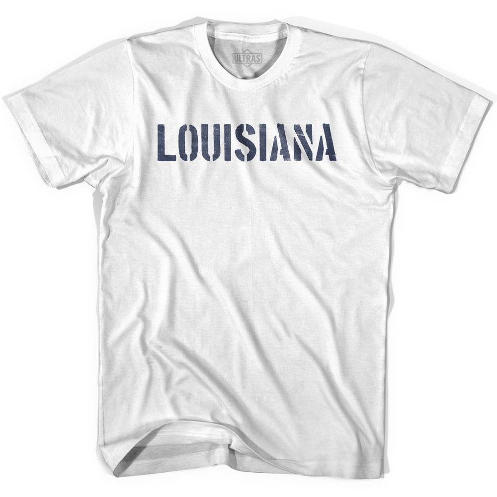 Louisiana State Stencil Womens Cotton T-shirt by Ultras