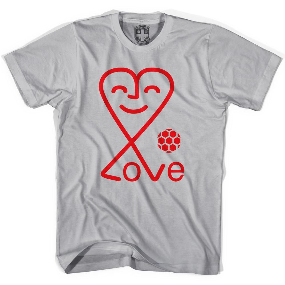 Love Heart Soccer T-shirt in Cool Grey by Neutral FC