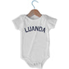 Luanda City Infant Onesie in White by Mile End Sportswear