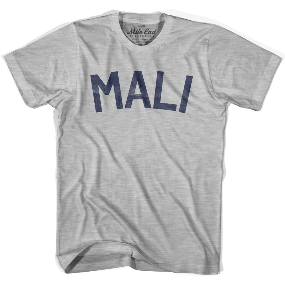 Mali City Vintage T-shirt in Grey Heather by Mile End Sportswear