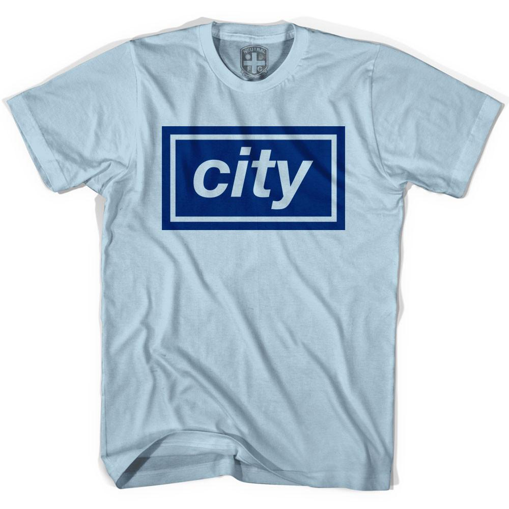 Manchester City Oasis Inspired T-shirt in Blue by Neutral FC