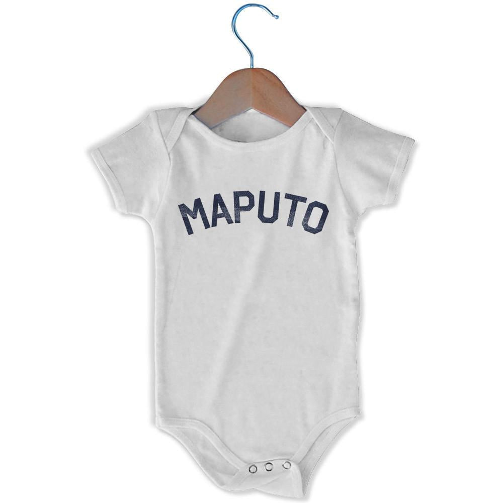 Maputo City Infant Onesie in White by Mile End Sportswear