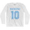 Ultras Maradona 10 Soccer Long Sleeve T-shirt by Ultras