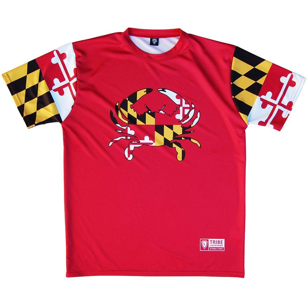 Maryland Crab Shooting Lacrosse Shooting Shirt by Tribe Lacrosse