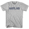Maryland State Stencil Womens Cotton T-shirt by Ultras