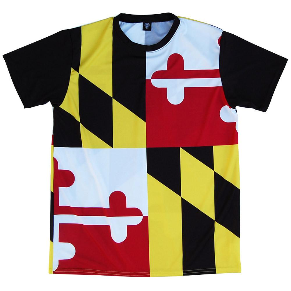 Maryland Flag Shooter Shirt in Red White Yellow and Black by TRIBE LACROSSE