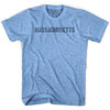 Mass State Stencil Adult Tri-Blend T-shirt by Ultras