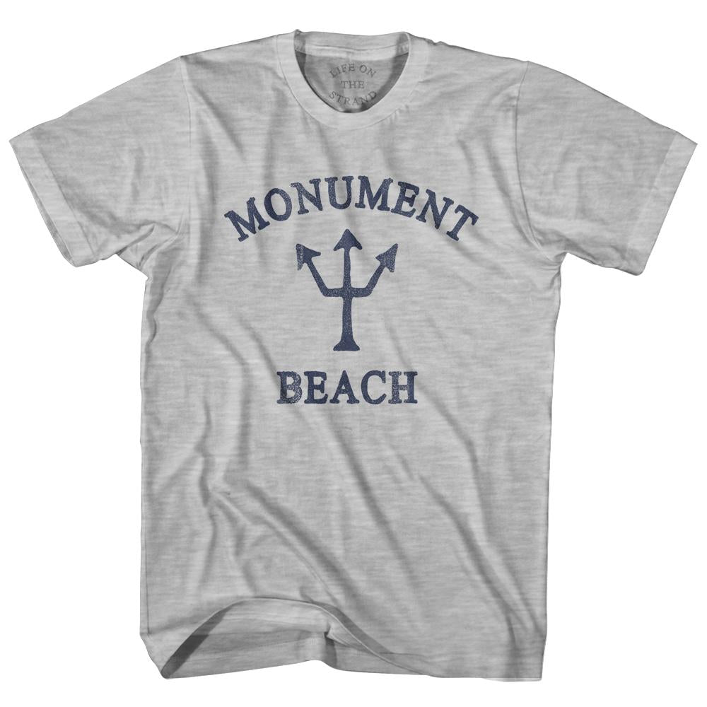 Massachusetts Monument Beach Trident Youth Cotton T-Shirt by Life on the Strand