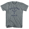 Massachusetts Wollaston Beach Trident Youth Tri-Blend T-Shirt by Life on the Strand