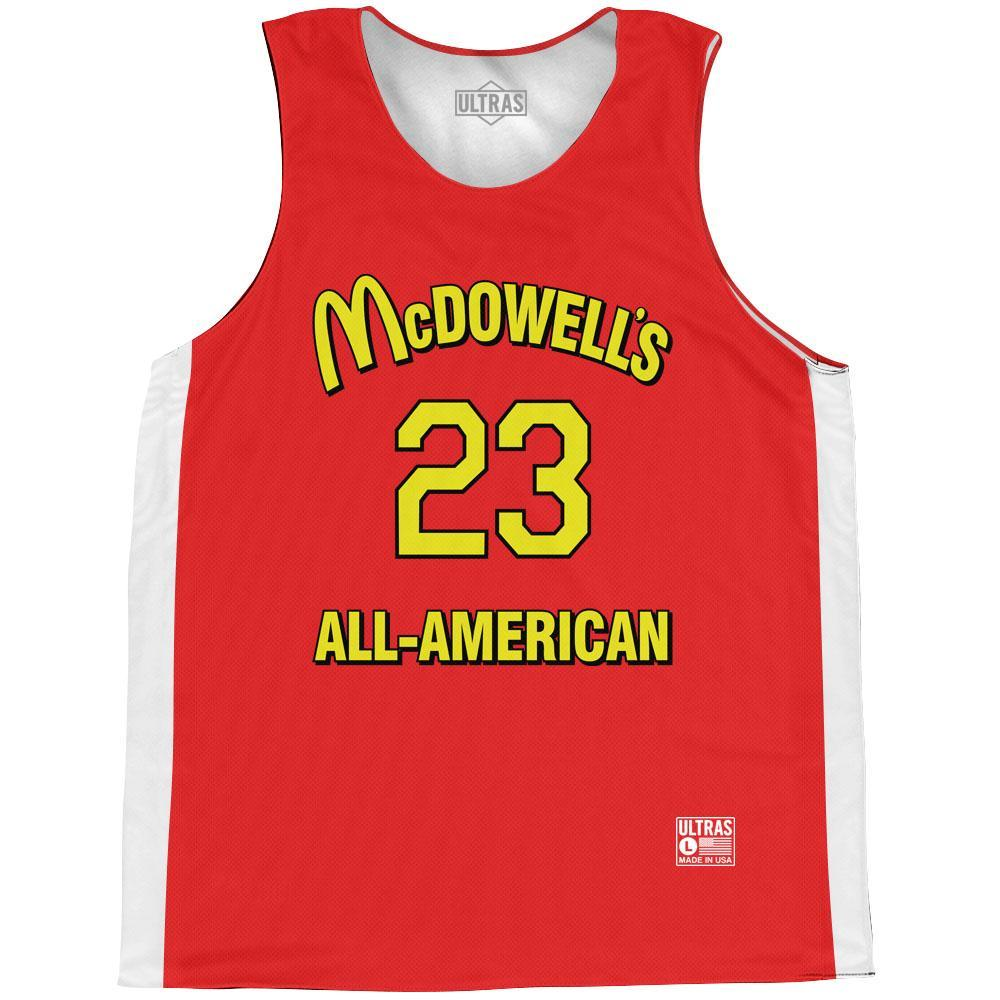 Coming To American McDowell's Akeem 23 All-American Basketball Practice Singlet Jersey BY Ultras Basketball
