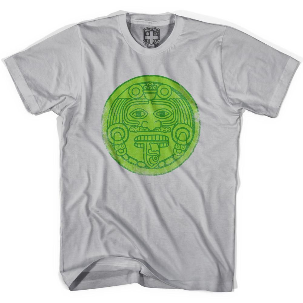 Mexico Mayan Face T-shirt in Cool Grey by Neutral FC
