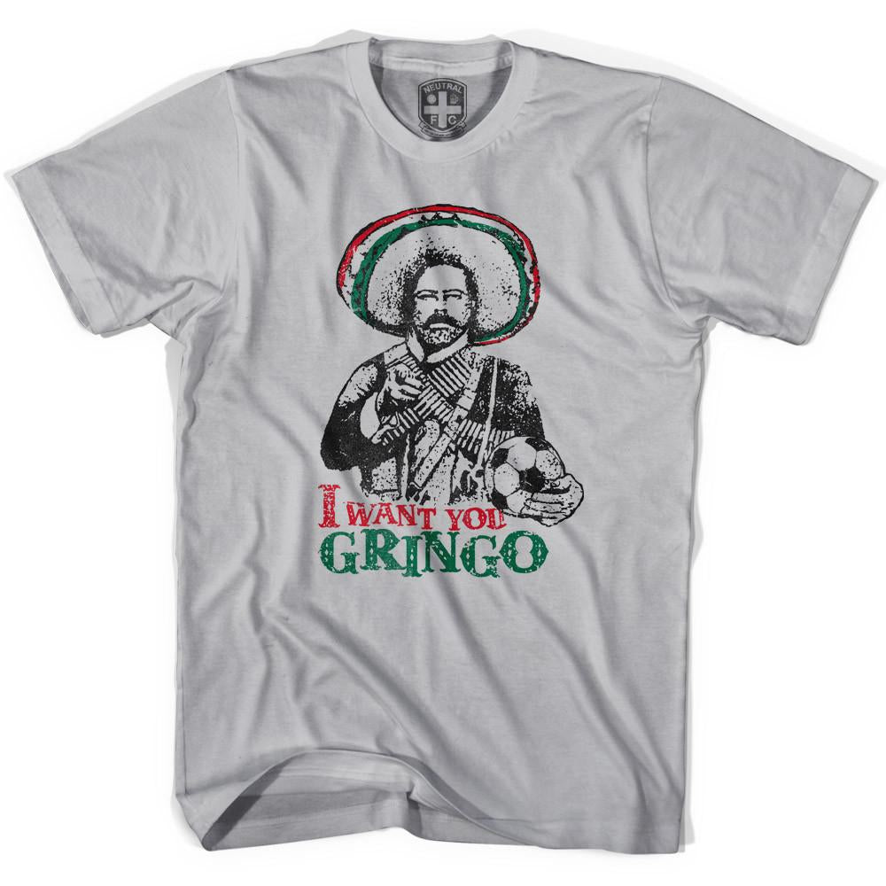 Mexico Pancho Villa I Want You Gringo T-shirt in Cool Grey by Neutral FC