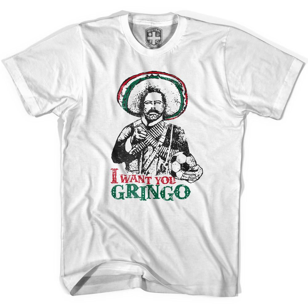 Pancho Villa I Want You Gringo T-shirt in White by Neutral FC