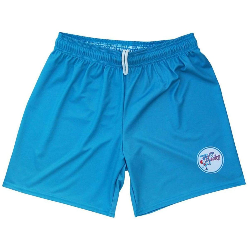 Minnesota Kicks NASL Ultras Soccer Shorts - Aqua / Youth X-Small / No - Soccer Shorts