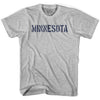 Minnesota State Stencil Womens Cotton T-shirt by Ultras