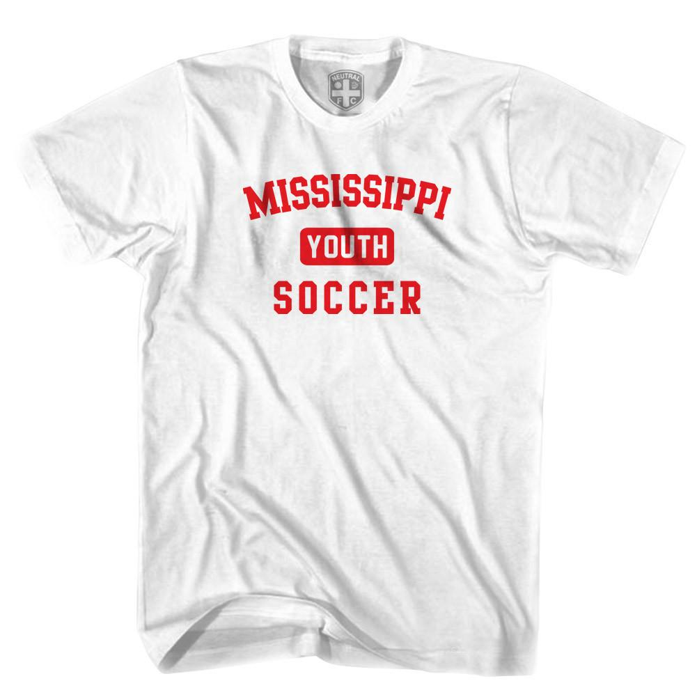 Mississippi Youth Soccer T-shirt in White by Neutral FC